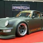 RWB Porsche 911 Rauh-Welt Begriff 964 army green matte front