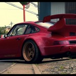 RWB Porsche 911 Rauh-Welt Begriff 964 low red driveway