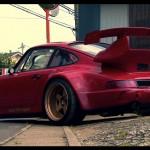 RWB Porsche 911 Rauh-Welt Begriff 964 low red driveway