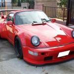 RWB Porsche 911 Rauh-Welt Begriff 964 red front low stance