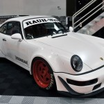 RWB Porsche 911 Rauh-Welt Begriff 964 white with red wheels