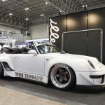 RWB Porsche 911 Rauh-Welt Begriff 993 convertible in white spearmint rhino front view