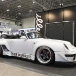 RWB Porsche 911 Rauh-Welt Begriff 993 convertible in white spearmint rhino front view