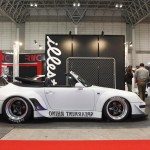 RWB Porsche 911 Rauh-Welt Begriff 993 convertible in white spearmint rhino side profile