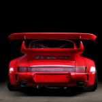 RWB Porsche 911 Rauh-Welt Begriff Red high detail rear low angle