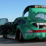 RWB Porsche 911 Rauh-Welt Begriff green Pandora One rear open wide