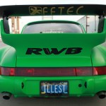 RWB Porsche 911 Rauh-Welt Begriff green Pandora One rear spoiler upview