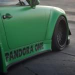 RWB Porsche 911 Rauh-Welt Begriff green Pandora One side detail skirt