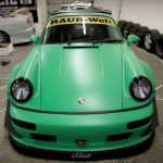 RWB Porsche 911 Rauh-Welt Begriff green bonnet view 964