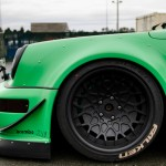 RWB Porsche 911 Rauh-Welt Begriff green with gopro mounted on bonnet 964