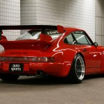 RWB Porsche 911 Rauh-Welt Begriff red rear diffuser and spoiler