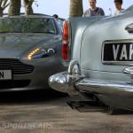 Aston Martin AMOC Spring Concours DB5 rear closeup Vantage V8