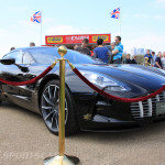 Aston Martin AMOC Spring Concours One-77 black low front
