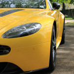 Aston Martin AMOC Spring Concours V12 Vantage side yellow gold