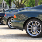 Aston Martin AMOC Spring Concours rear lineup DB7