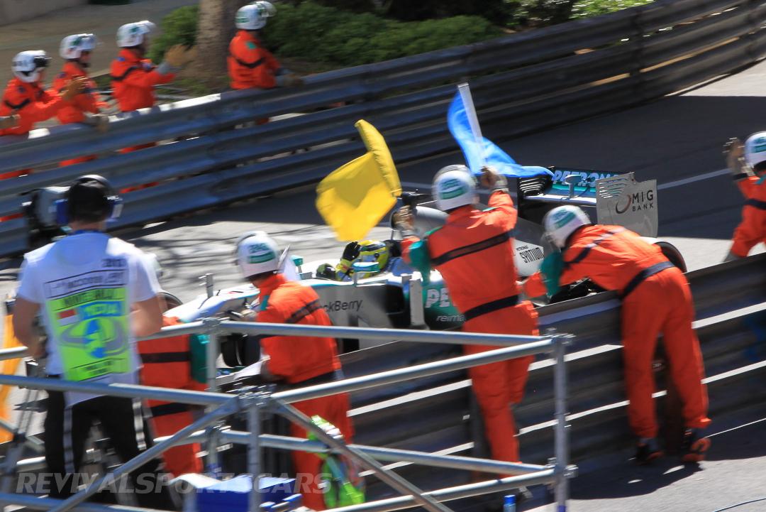 Monaco Formula 1 2013 flag waving
