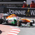 Monaco Formula 1 2013 force india 3 wheel lift