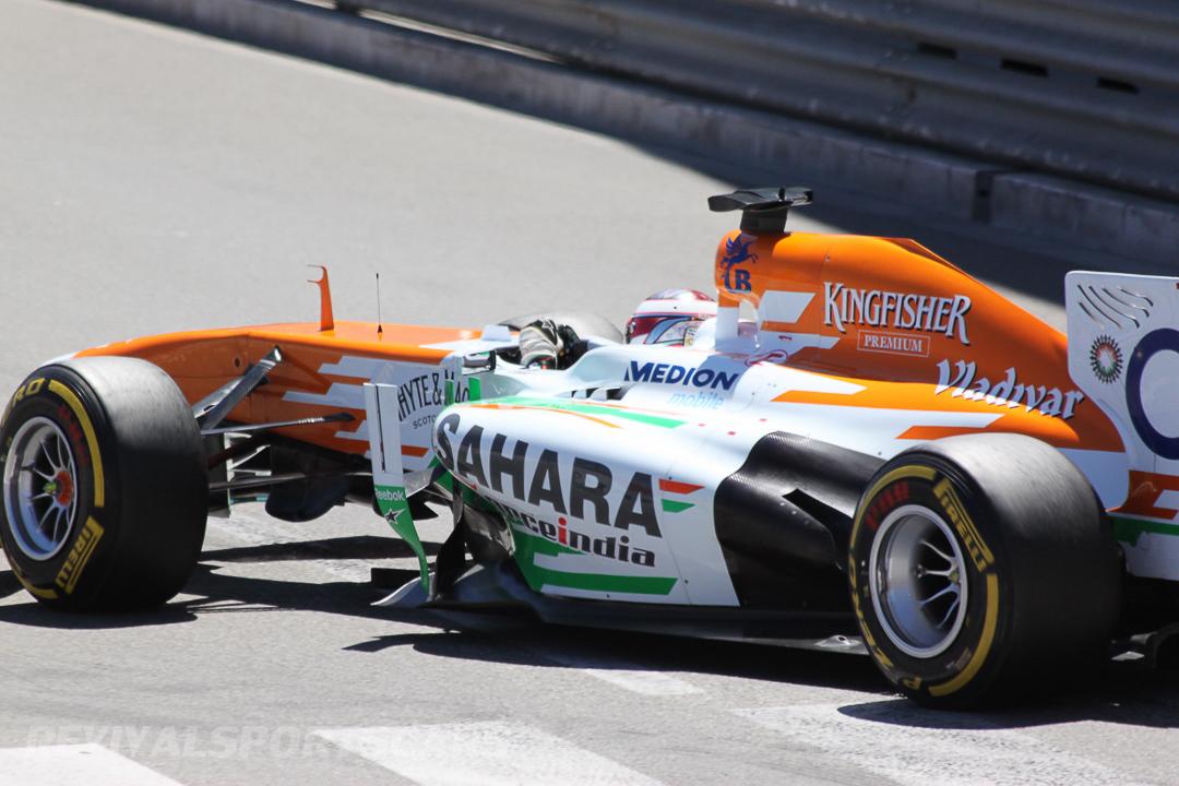 Monaco Formula 1 2013 force india driver closeup