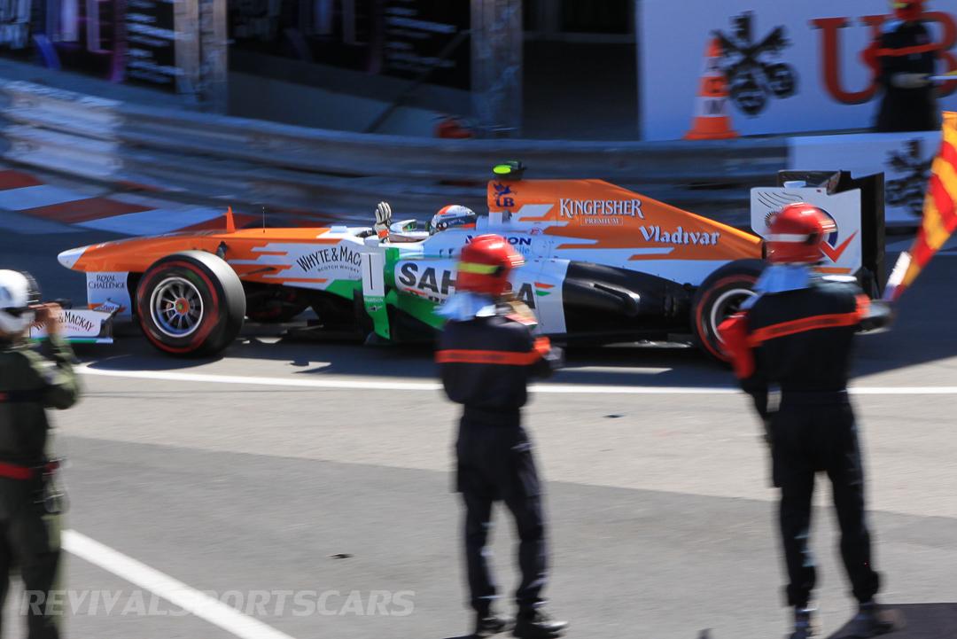 Monaco Formula 1 2013 force india flags