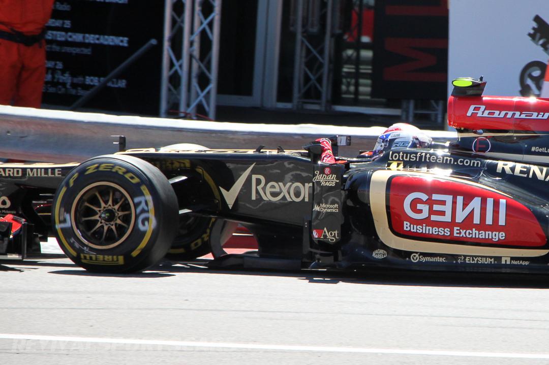 Monaco Formula 1 2013 lotus profile detail