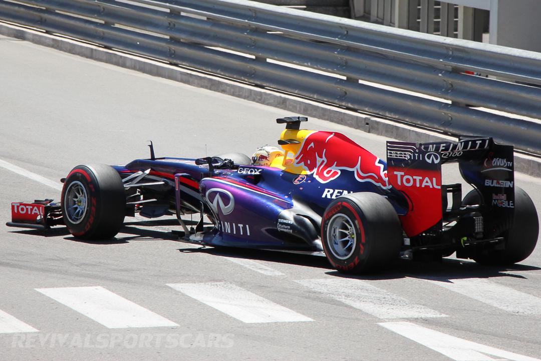 Monaco Formula 1 2013 red bull rear side