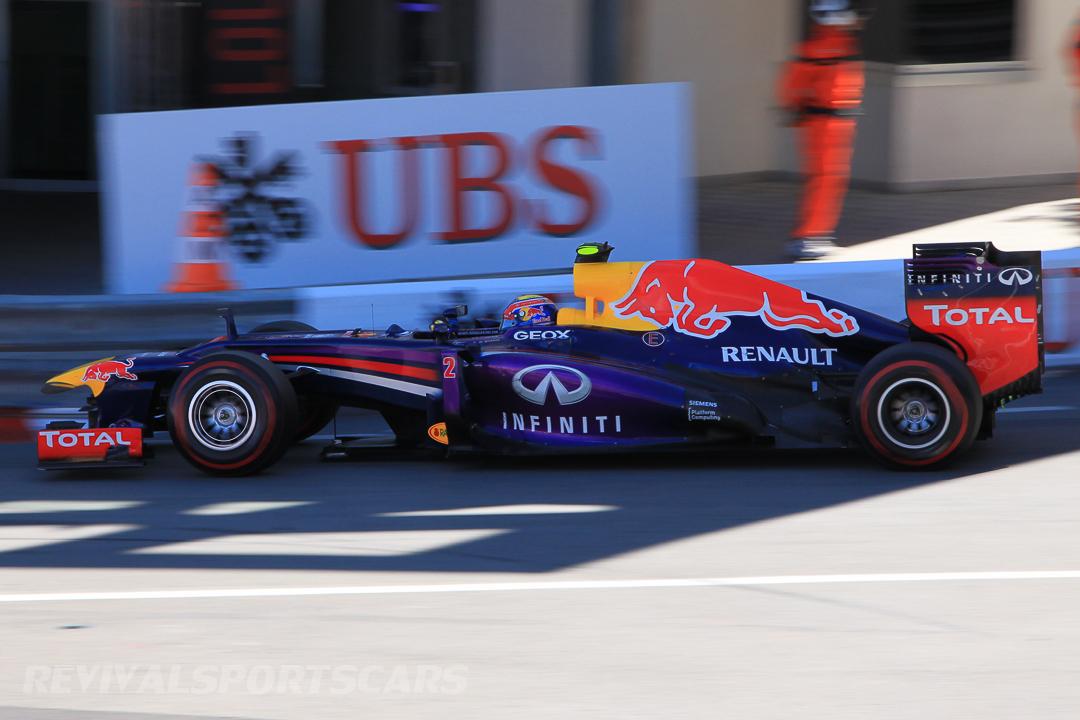 Monaco Formula 1 2013 red bull side view