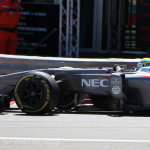 Monaco Formula 1 2013 sauber front detail side