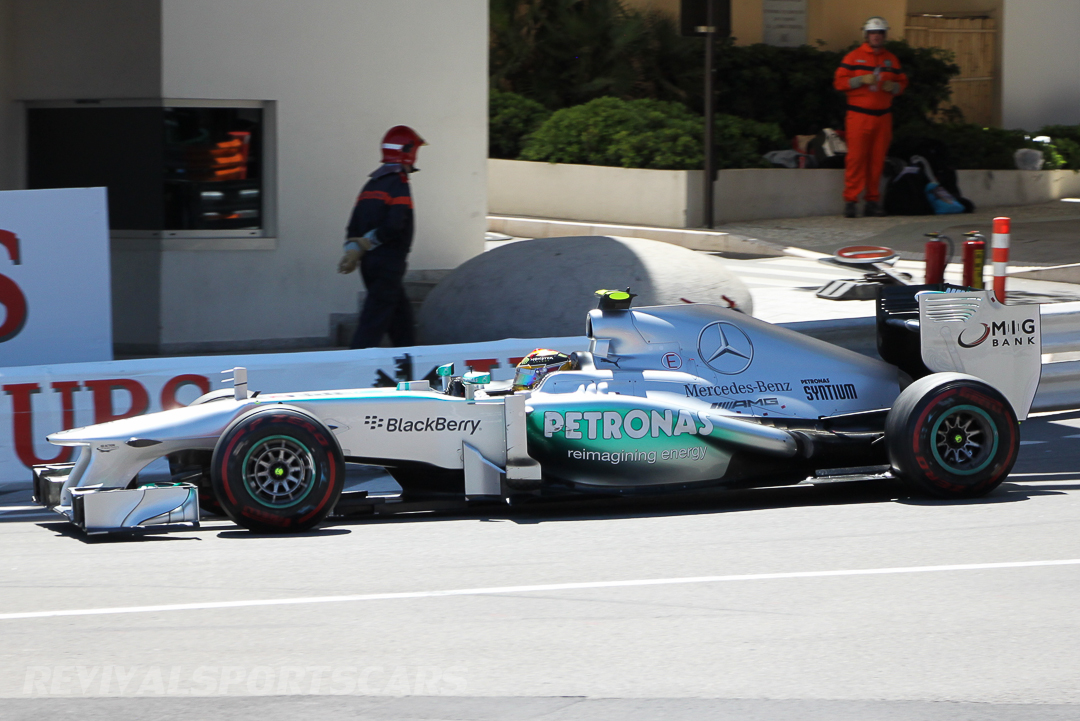 Monaco Formula 1 2013 side on mercedes