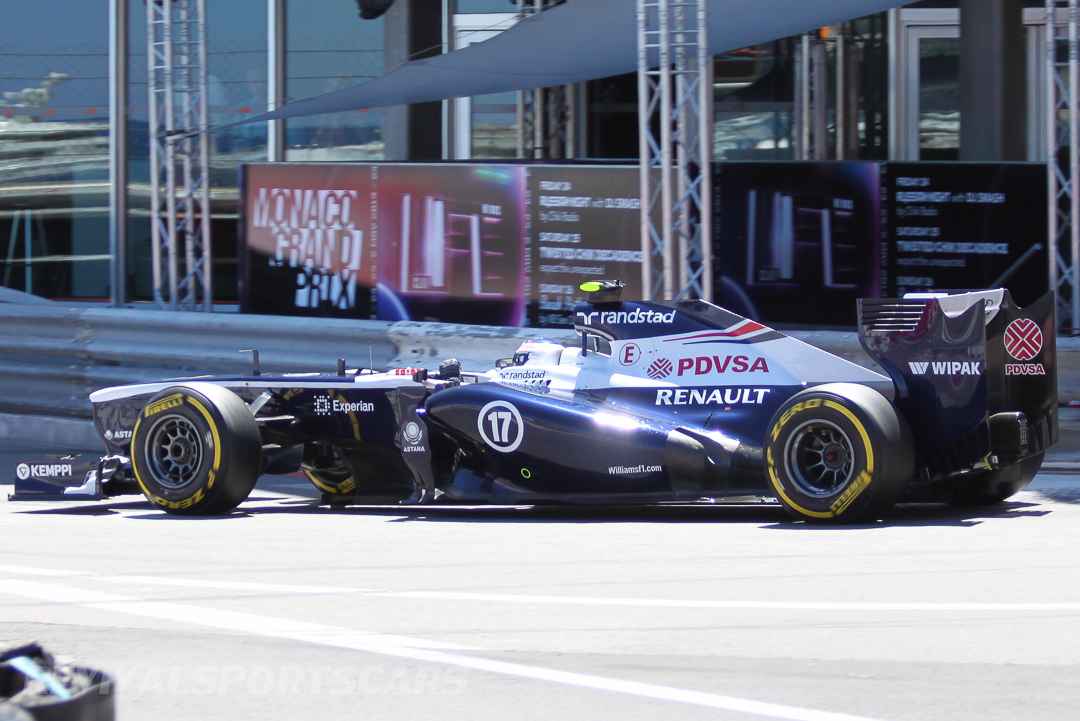 Monaco Formula 1 2013 williams rear low