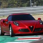 Alfa Romeo 4C UK  2014 Red front low track speed (1280x852)