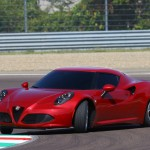 Alfa Romeo 4C UK  2014 Red sliding front on track speed (1280x851)