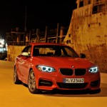 BMW M235i launch red front night (1280x853)