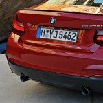 BMW M235i launch red rear light cluster closeup (1280x853)