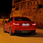 BMW M235i launch red rear night (1280x853)