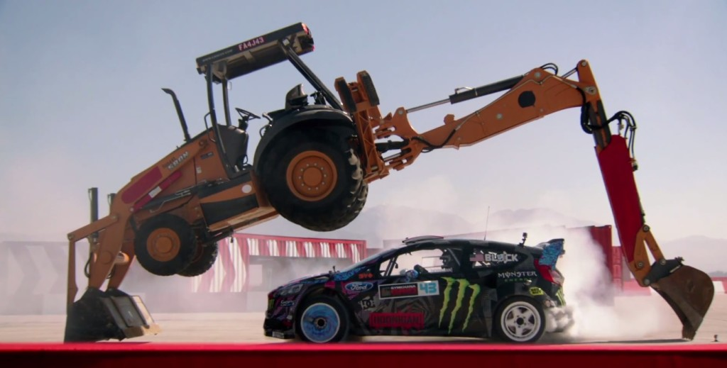 Ken Block Gymkhana 6 Six JCB Drift