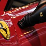 Lancaster Insurance Classic Car Show NEC (107 of 250) Ferrari bb512i scuderia enamel crest closeup