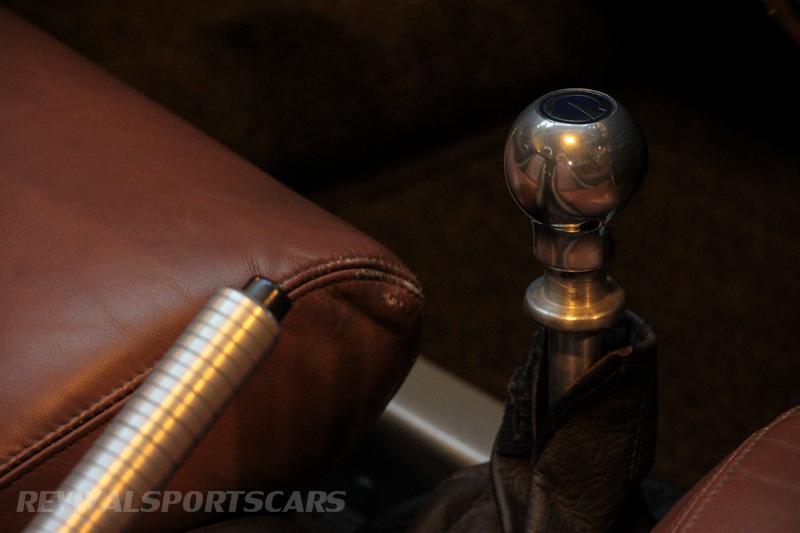 Lancaster Insurance Classic Car Show NEC (111 of 250) Porsche 550 spyder gear shifter closeup