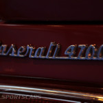 Lancaster Insurance Classic Car Show NEC (115 of 250) Maserati 4700 badge closeup