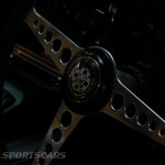 Lancaster Insurance Classic Car Show NEC (121 of 250) Jaguar XK Steering wheel
