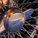 Lancaster Insurance Classic Car Show NEC (122 of 250) Jaguar XK wheel wire closeup