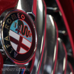 Lancaster Insurance Classic Car Show NEC (130 of 250) Alfa Romeo 147 front grill gta closeup