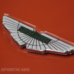 Lancaster Insurance Classic Car Show NEC (136 of 250) Aston Martin V8 Vantage front badge detail