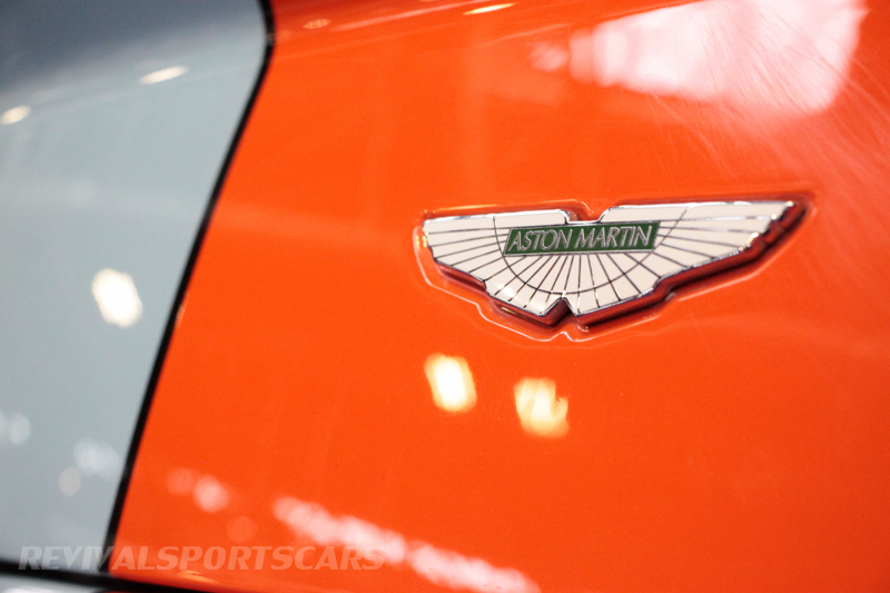 Lancaster Insurance Classic Car Show NEC (138 of 250) Aston Martin Vantage rear badge gulf colours