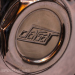Lancaster Insurance Classic Car Show NEC (162 of 250) Jensen wheel cover closeup