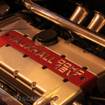 Lancaster Insurance Classic Car Show NEC (188 of 250) Vauxhall Red top engine detail