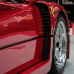 Lancaster Insurance Classic Car Show NEC (37 of 250) Ferrari F40 front wheel vent