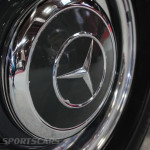 Lancaster Insurance Classic Car Show NEC (48 of 250) Mercedes 300SL wheel cover closeup