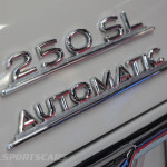 Lancaster Insurance Classic Car Show NEC (49 of 250) Mercedes 250SL rear badge