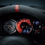 Nissan GTR Nismo Edition 2014 White dials with red detailing closeup