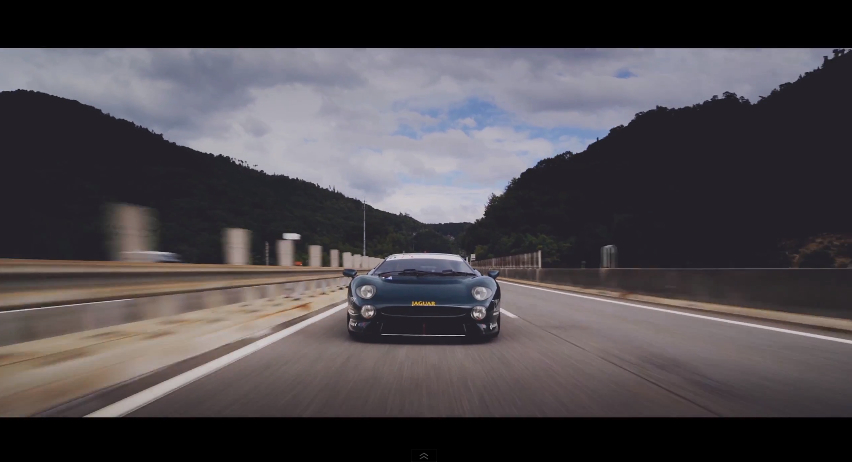 Jaguar XJ220LM front highway Le Mans' Luke Huxham